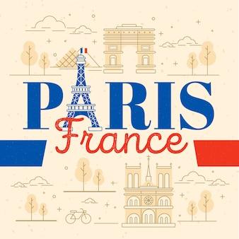Paris city lettering