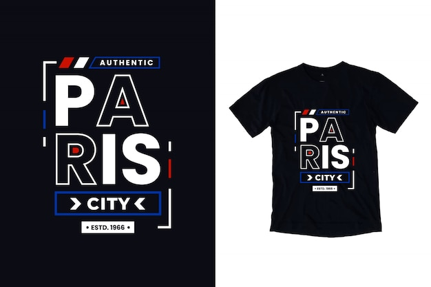 Paris city modern typography lettering