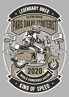 Paris dakar scooterist