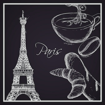 Paris design, vector illustration.