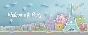 Paris, France landmarks.