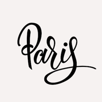 Paris handwritten lettering design.