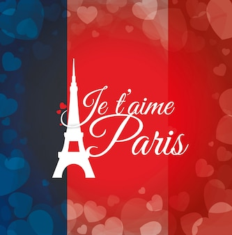 Paris landmarks design