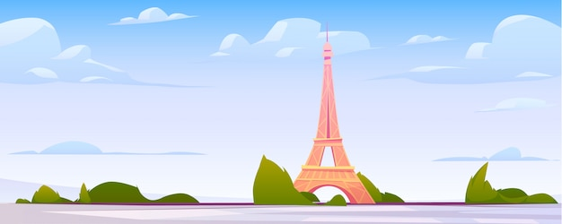 Paris landscape, france city skyline background