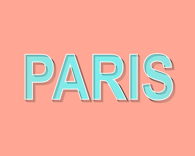 Paris lettering greeting card.