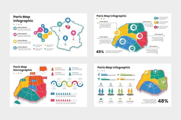 パリの地図のインフォグラフィック
