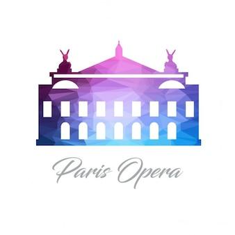 Paris opera poligono logo