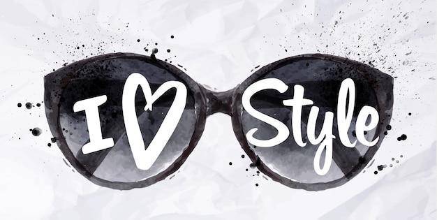 Paris poster glasses