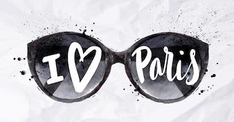 Paris poster sun glasses