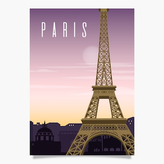 Paris promotional poster template