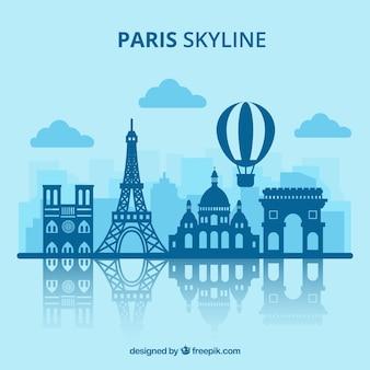 Disegno dell'orizzonte di parigi