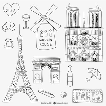 Parisian landmarks and objects