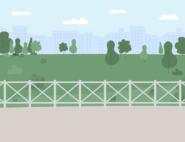 Парк и зона отдыха плоские цветные рисунки. открытое расположение.