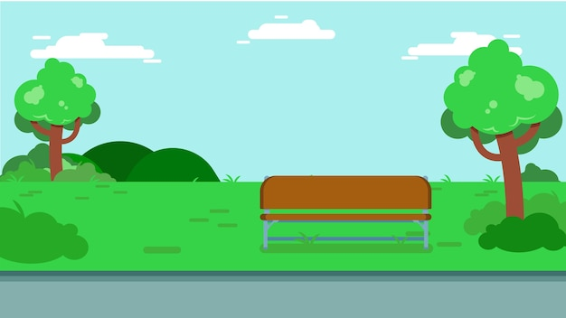 Park background vector illustration