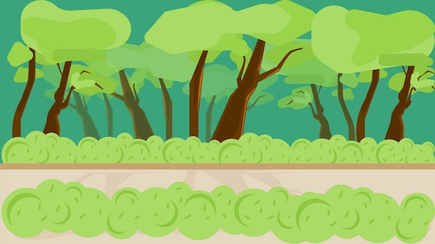 Park background vector illustration