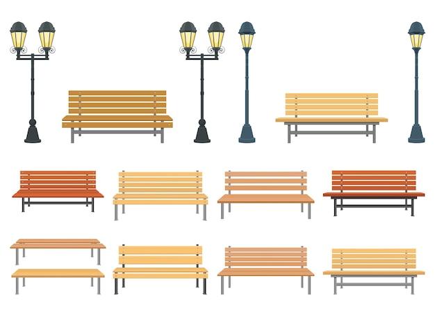Иллюстрация скамейки в парке, изолированные на белом фоне