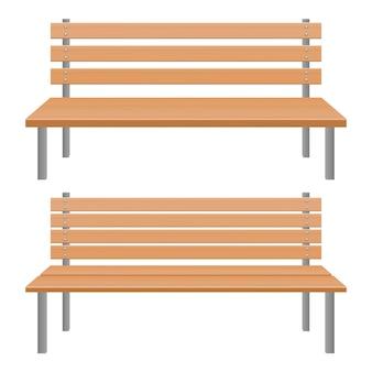 Park bench   illustration isolated on white background