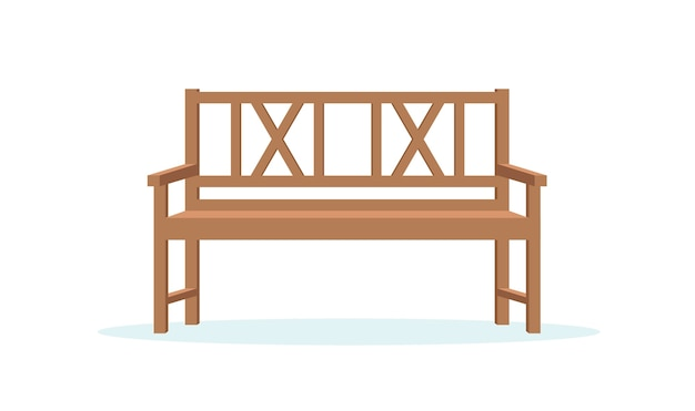Park bench vector illusration in flat style