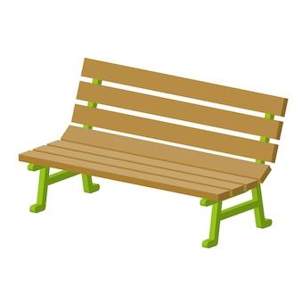 Скамейке в парке.
