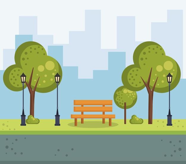 Park urban cityscape scene