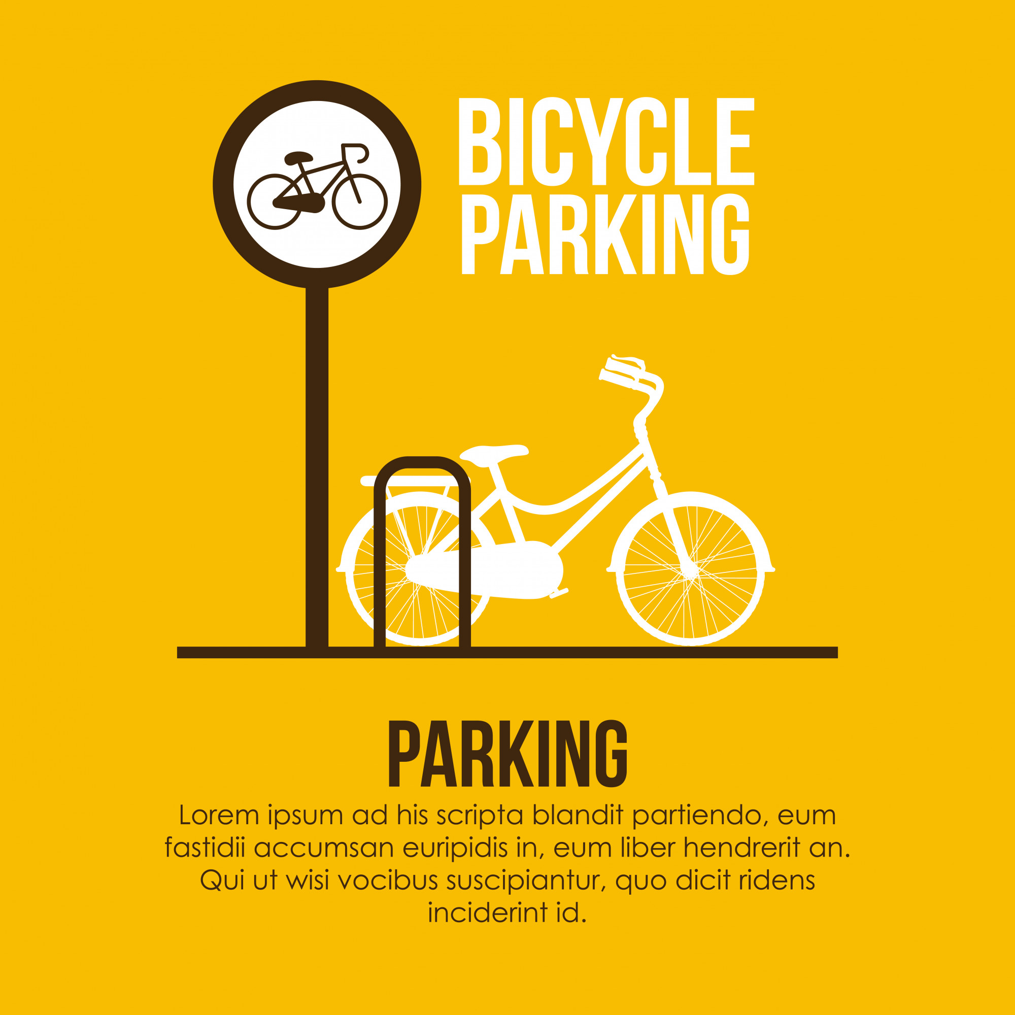 Parking design over yellow background vector illustration