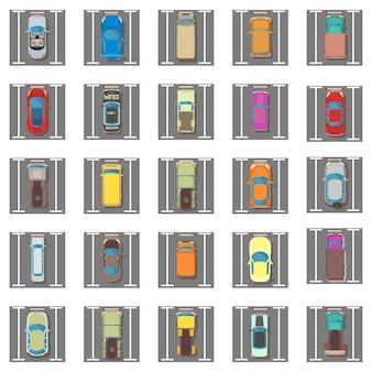 Значок парковки установлен