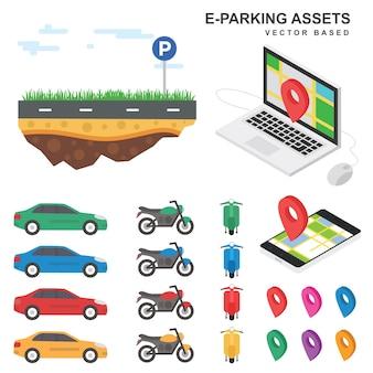 Parking illustration assets