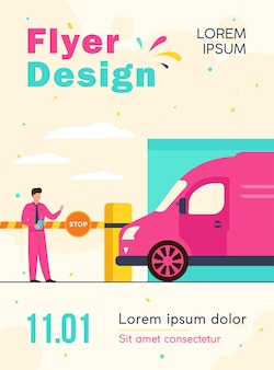 Parking lot security flyer template