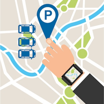 Parking service, touch map