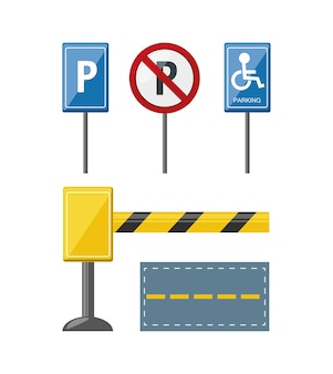 Parking zone related icons