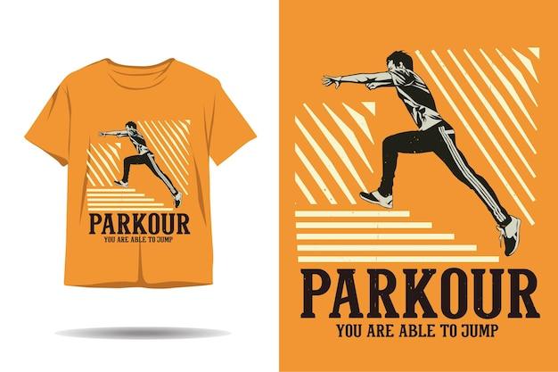Tシャツのデザインをジャンプできるパルクール
