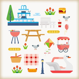 Parks objects vector set