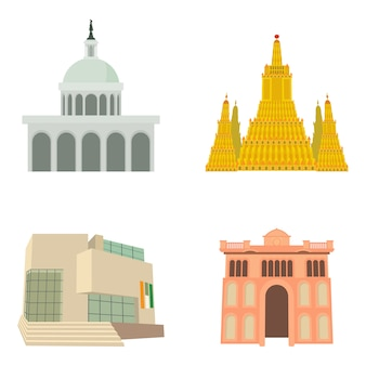 Parlament icon set