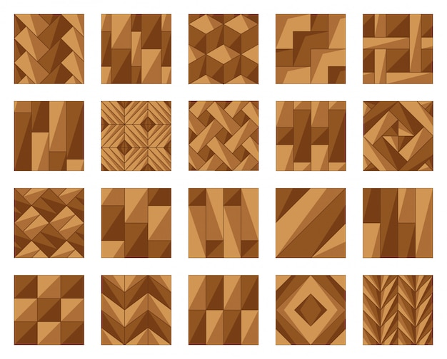Parquet floor cartoon vector illustration  .wood floor set icon.vector illustration icon parquet of hardwood for room.