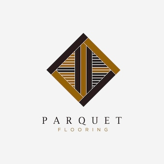 Parquet flooring texture logo vector illustration design