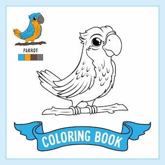 Раскраски животные попугай птицы