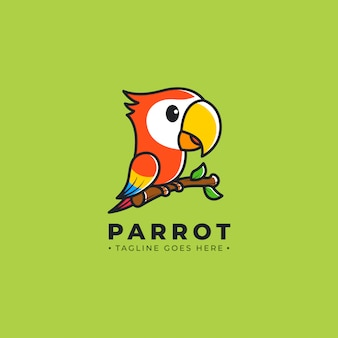 Parrot cartoon logo
