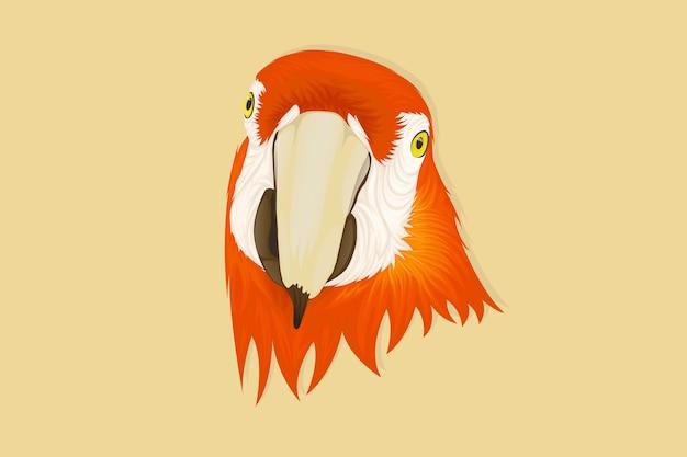 Реалистичный стиль рисования лица попугая