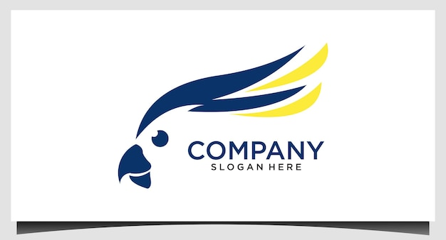 Вектор шаблона дизайна логотипа попугай