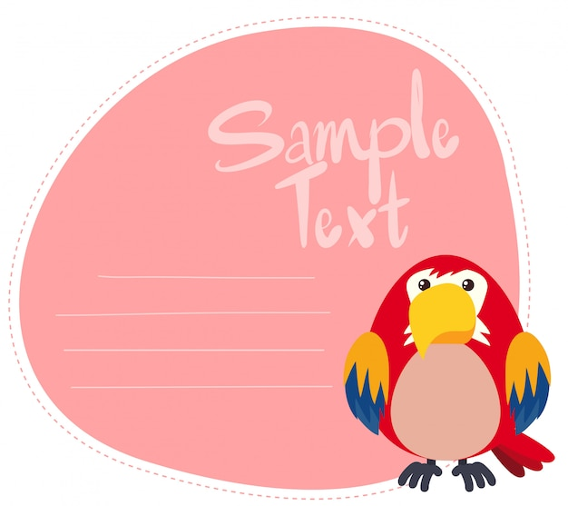 Parrot on note template