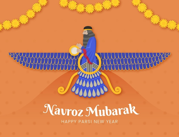 Parsi new year illustration