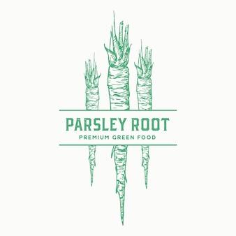 파슬리 뿌리 기호, 기호 또는 레이블