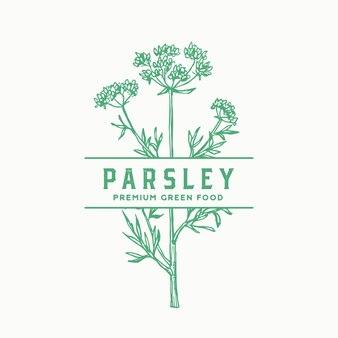 Parsley stem sign, symbol or label