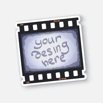 あなたの写真のための空きスペースのあるフィルムストリップの一部写真またはシネマフレームベクトルイラスト