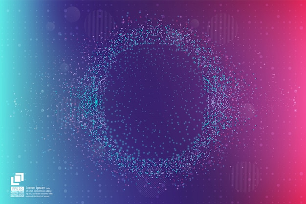 Particle and dust abstract background modern design with copy space