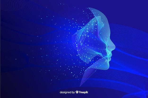 粒子の顔の背景