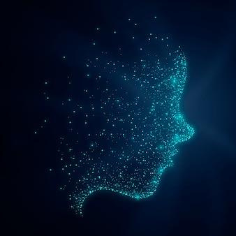 粒子の顔の輝きの背景