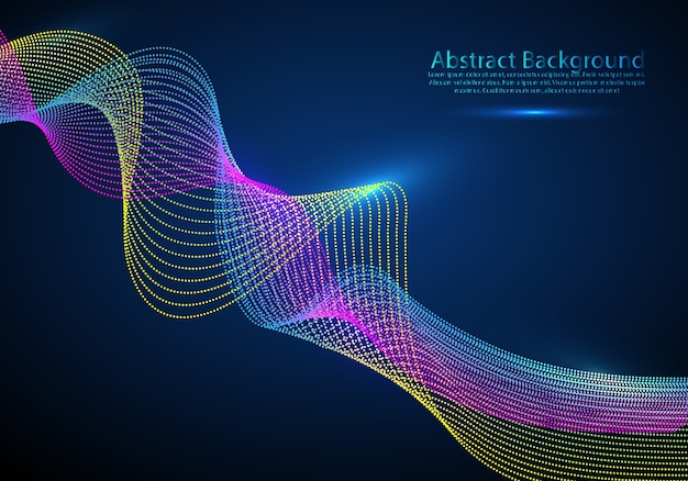 Particle flow abstract background