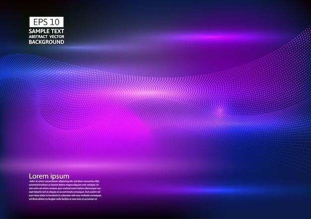 Particle wave abstract background design