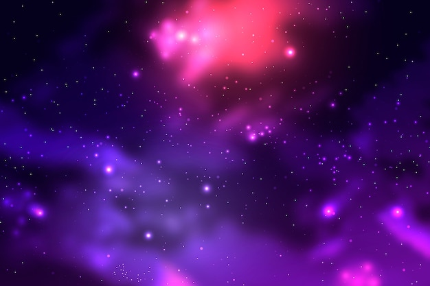 Particles galaxy background